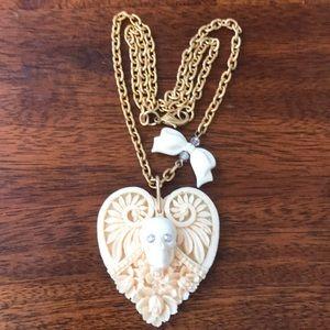 Tarina Tarantino heart skull necklace